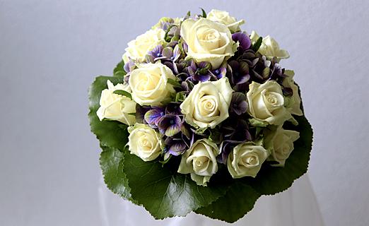 Brautstrauß rundgebunden