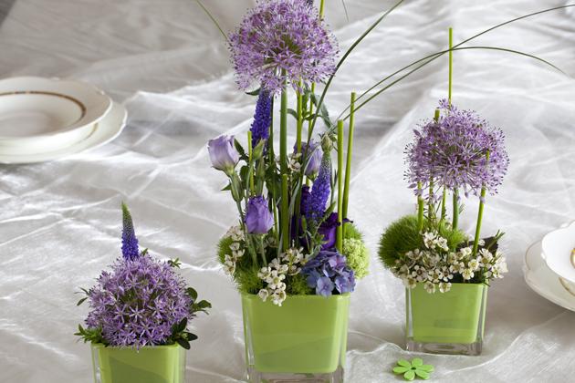 Tischgesteck mit Allium
